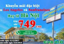 Đi mỹ với vé Eva Air chỉ từ 749 USD